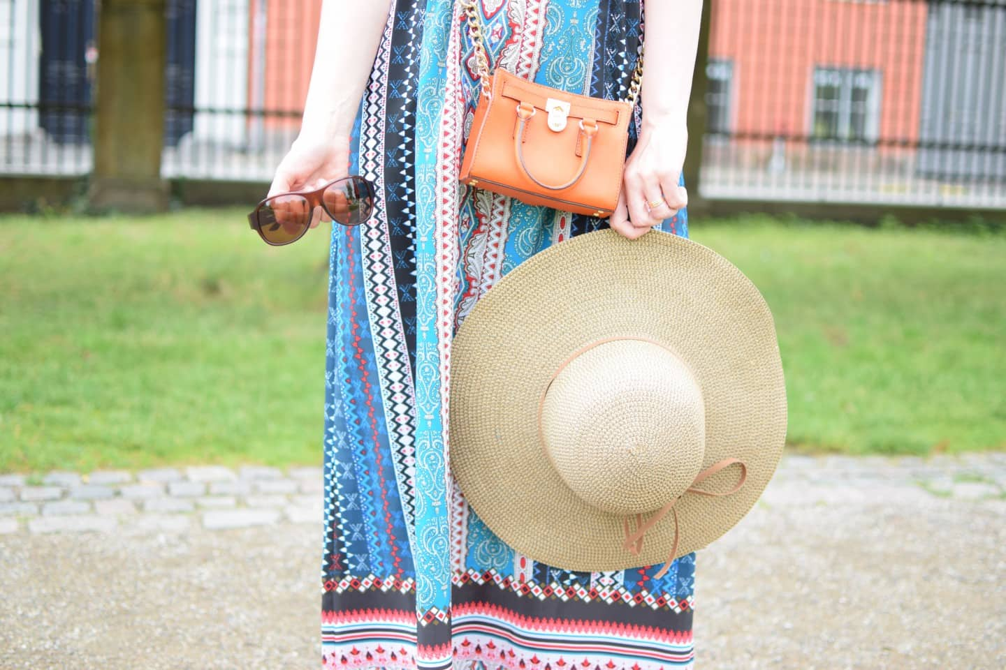 Maxi Dress & Mini Bag