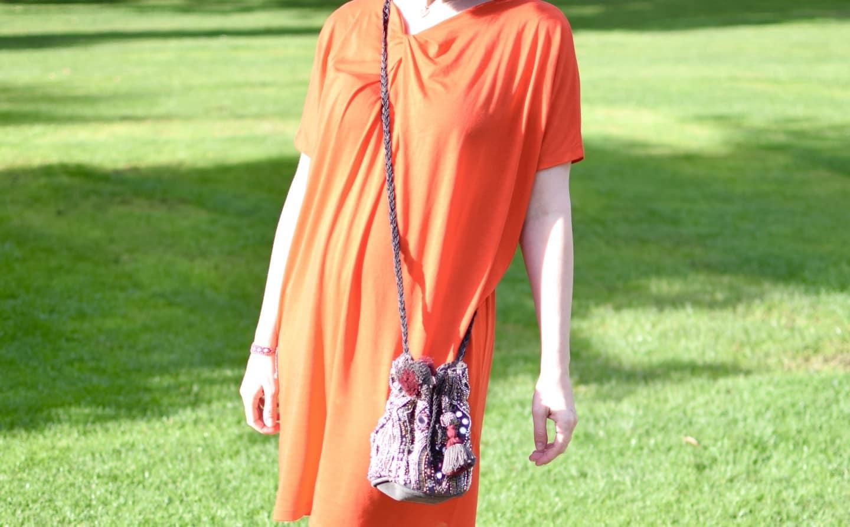 Bright tunica dress
