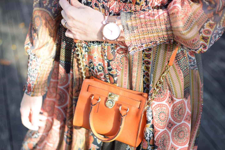 Zara dress & Autumn shades